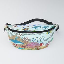 Colorful Fish Tank Fanny Pack