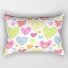 spring hearts Rectangular Pillow