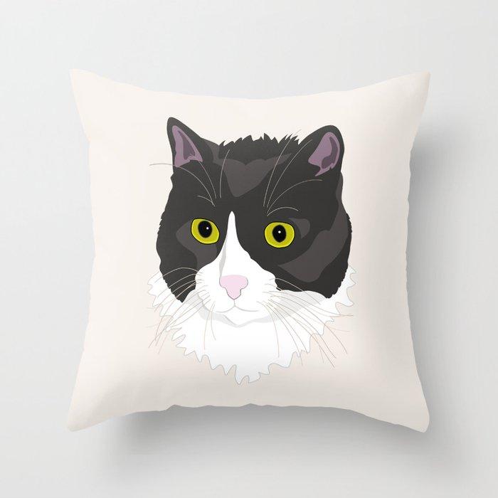 Casual Cat Throw Pillow