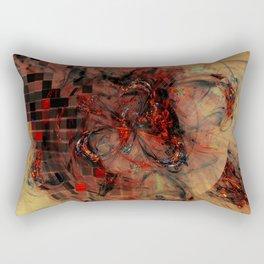 Black Fire Rectangular Pillow