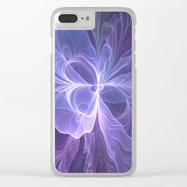 Abstract Art, Purple Fantasy Fractal Clear iPhone Case