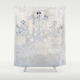 Snowflakes frozen freeze Shower Curtain