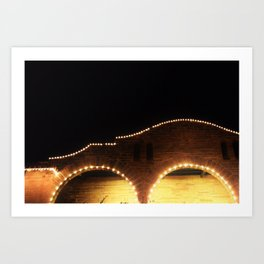St. Augustine Night time lights Sparkle Landscape photography Evening sights Art Print