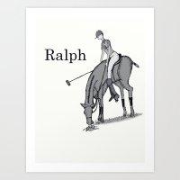 wreck it ralph Art Prints featuring Ralph by David Michael Schmidt