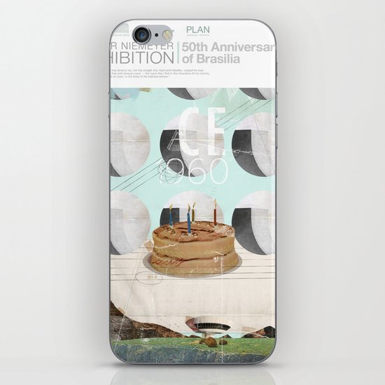 50th anniversary of the city of Brazil iPhone Skin