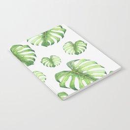 Watercolor monstera pattern Notebook