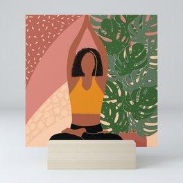 Sitting Asana of Yoga Mini Art Print