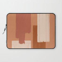 Burnt Orange Art, Terracotta Abstract Shapes Laptop Sleeve