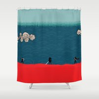 jedi Shower Curtains featuring Traditional Japanese Jedi by GlennTKD