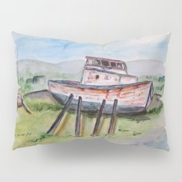 Abandoned Fishing Boat Pillow Sham