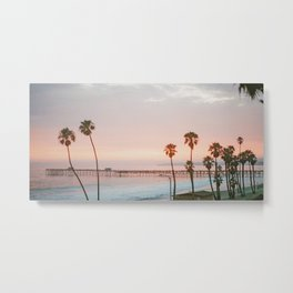 palm trees sunset vi / san clemente, california Metal Print