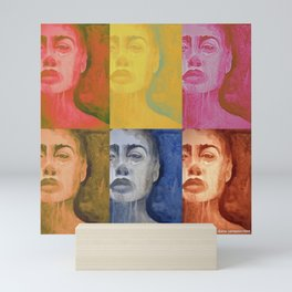 head and shoulders Mini Art Print