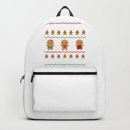 Cute Christmas Cookie Baking Team Captain Gingerbread Backpack
