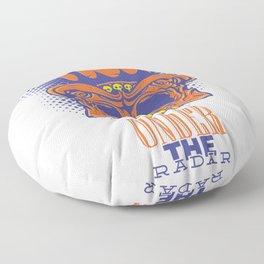 Under the radar  - skeleton Floor Pillow