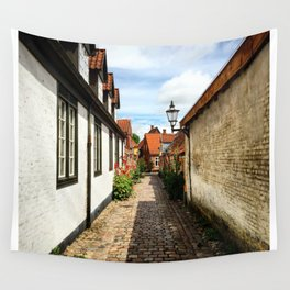 Narrow streets of Ribe Wall Tapestry