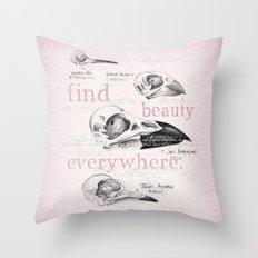 Bird Skulls Throw Pillow