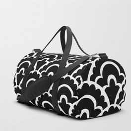 Fan Pattern Black and White 116 Duffle Bag