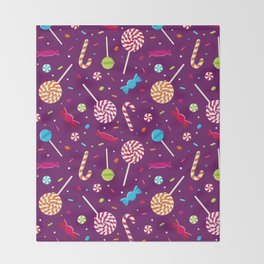 Delightful Candy Pattern Throw Blanket