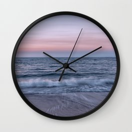 Pastel beach sunset Wall Clock