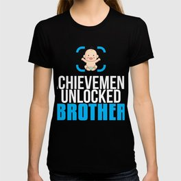 New Brother Gift Achievement Unlocked Brother Present for First Time Brother T-shirt