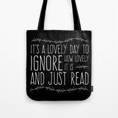 It's a Lovely Day to Read (Inverted) Tote Bag