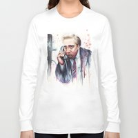 cage Long Sleeve T-shirts featuring Nicolas Cage by Olechka