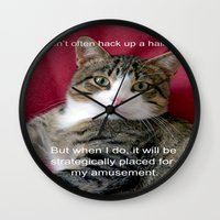 meme Wall Clocks featuring TJ Meme by Frankie Cat