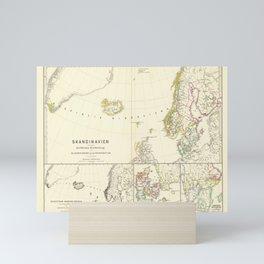 Vintage Map - Spruner-Menke Handatlas (1880) - 65 The Church in Scandanavia Before the Reformation Mini Art Print