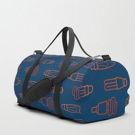 Orange eco bulb Duffle Bag