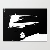 van Canvas Prints featuring Van by Monochromis