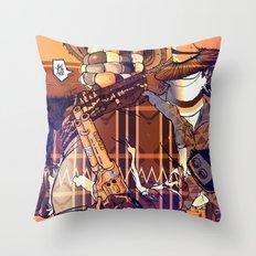 Choclo y Salcedo en el oeste (VariantRETRO) Throw Pillow