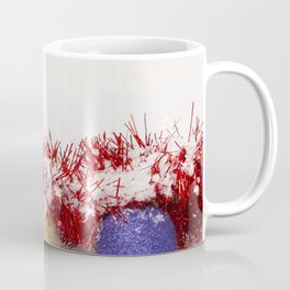 Christmas Baubles Tinsel and Snow Coffee Mug