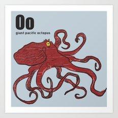 giant pacific octopus Art Print