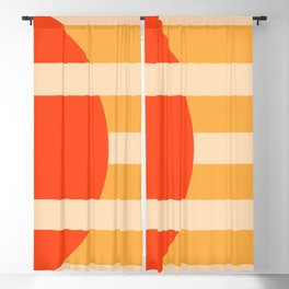 GEOMETRY ORANGE I Blackout Curtain