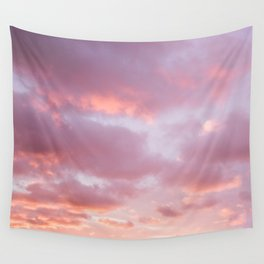 Unicorn Sunset Peach Skyscape Photography Wall Tapestry