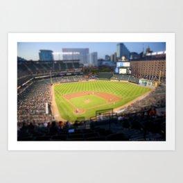 Orioles Baseball Tilt Shift Art Print