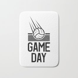 Game Day Volleyball play volleyballer gift Bath Mat