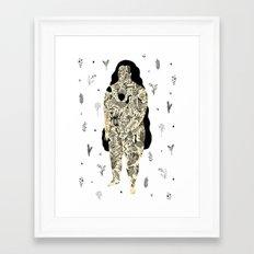 Inked Lady Framed Art Print