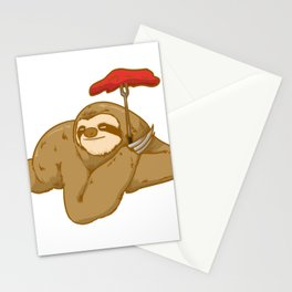 grill barbeque sloth Stationery Cards