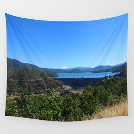 Shasta Lake View Wall Tapestry