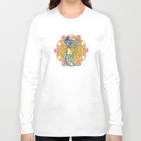 sacred geometry Long Sleeve T-shirts featuring Sacred Geometry Thoth Mandala by Jam.
