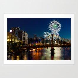 Fireworks in Pittsburgh Art Print