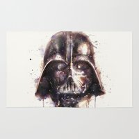 darth vader Area & Throw Rugs featuring Darth Vader by beart24