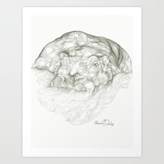 A Hippopotamus Called Motopotamous Art Print