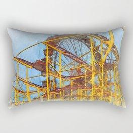 Munich Beer Festival - Roller Coaster & Ferris Wheel Rectangular Pillow