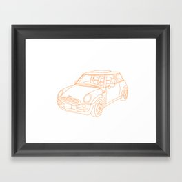 My Mini Cooper Framed Art Print