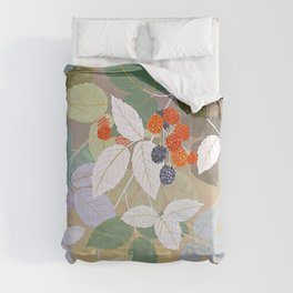 Leaves And Berries Comforters
