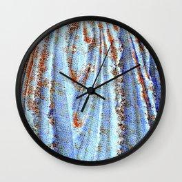 Caryatid in Blue Wall Clock