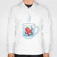 tea Hoodies featuring Octopus Tea by Freeminds