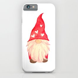 Valentine's Day with Gnome couple iPhone Case